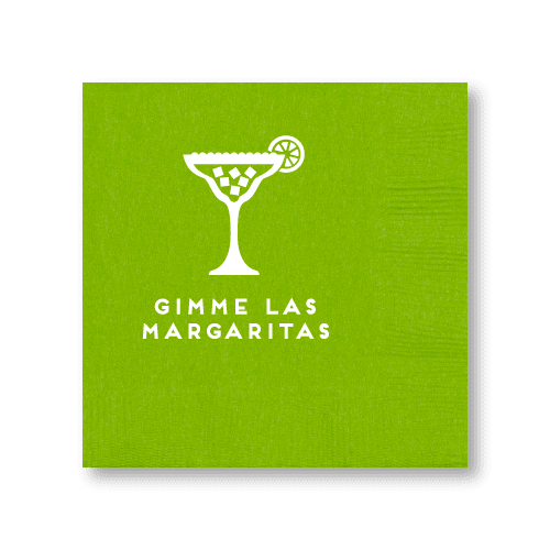 Gimme Las Margaritas Cocktail Napkins