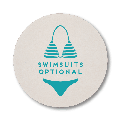 Swimsuits Optional Coasters