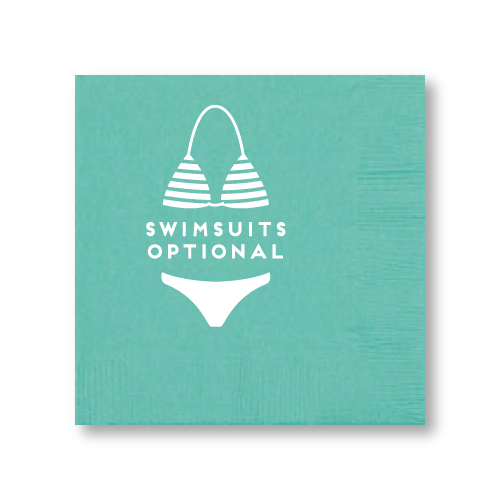Swimsuits Optional Cocktail Napkins