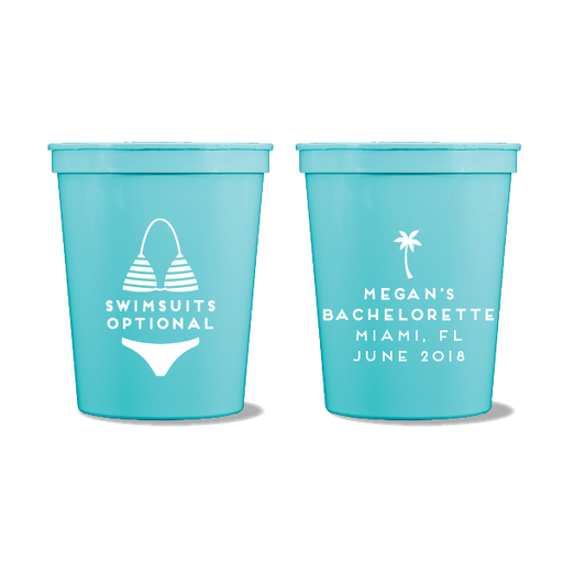 Swimsuits Optional Party Cups