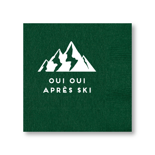Oui Oui Apres Ski Cocktail Napkins