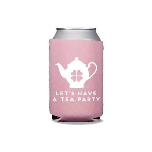 Let's Have a Tea Party Can Coolers