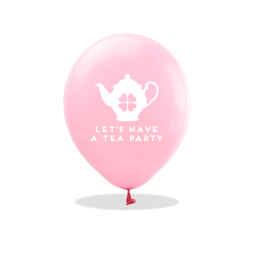 Let's Have a Tea Party Latex Balloons