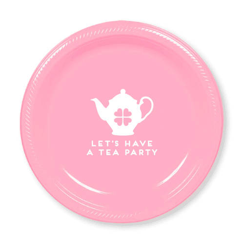 Let's Have a Tea Party Plastic Plates