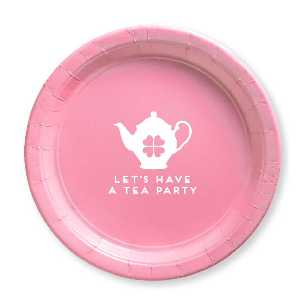 Let's Have a Tea Party Paper Plates