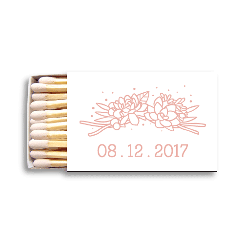 Succulent Monogram Matchboxes