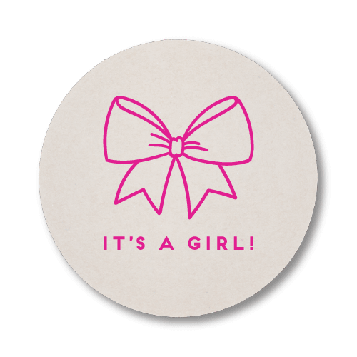 Baby Girl Bow Coasters