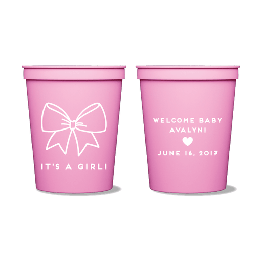 Baby Girl Bow Party Cups