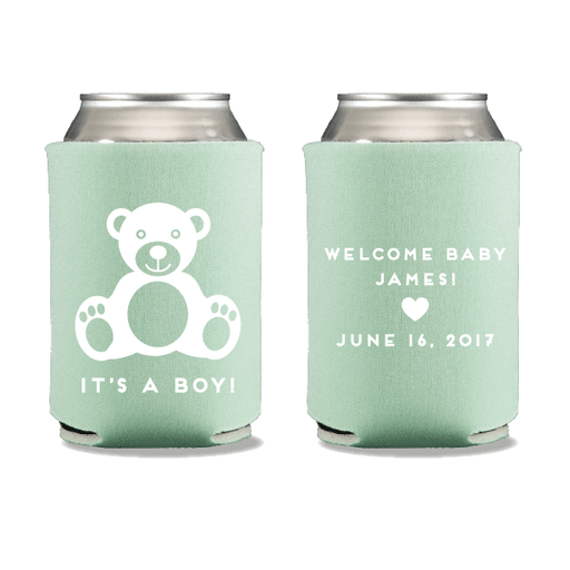 Baby Boy Bear Can Coolers