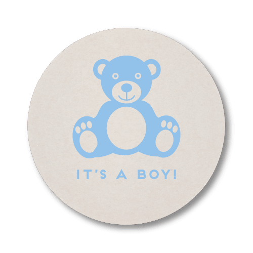 Baby Boy Bear Coasters