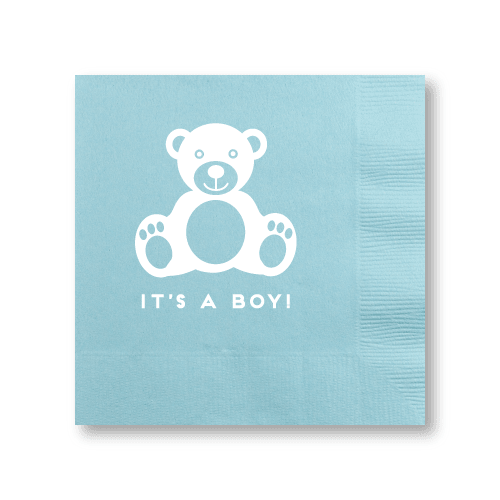 Baby Boy Bear Cocktail Napkins