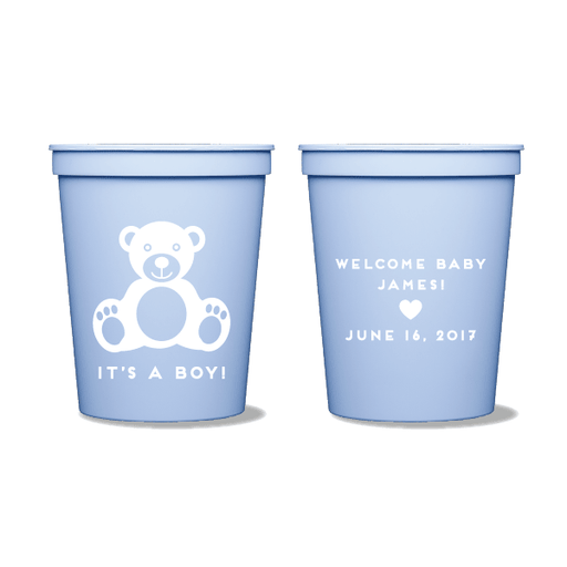 Baby Boy Bear Party Cups