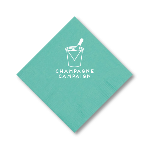 Champagne Campaign Cocktail Napkins