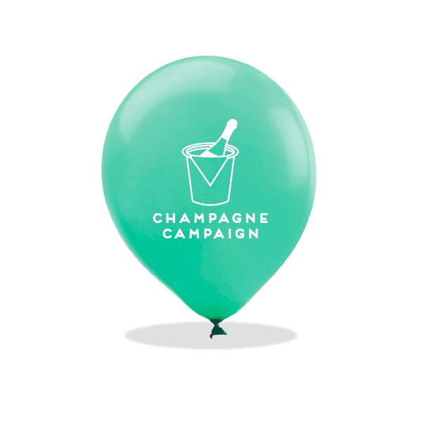 Champagne Campaign Latex Balloons