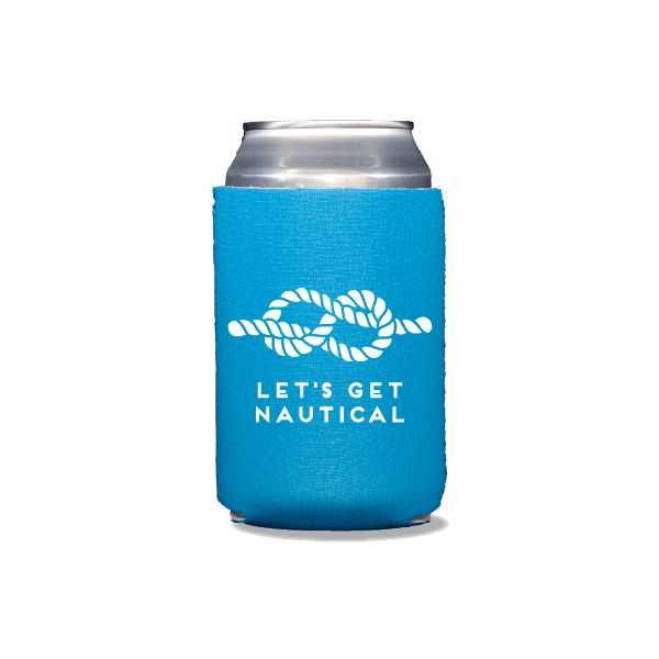 Let's Get Nautical Can Coolers