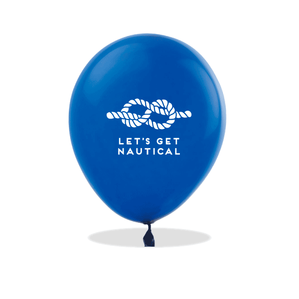 Let's Get Nautical Latex Balloons