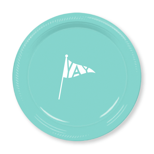 Yay Pennant Plastic Plates