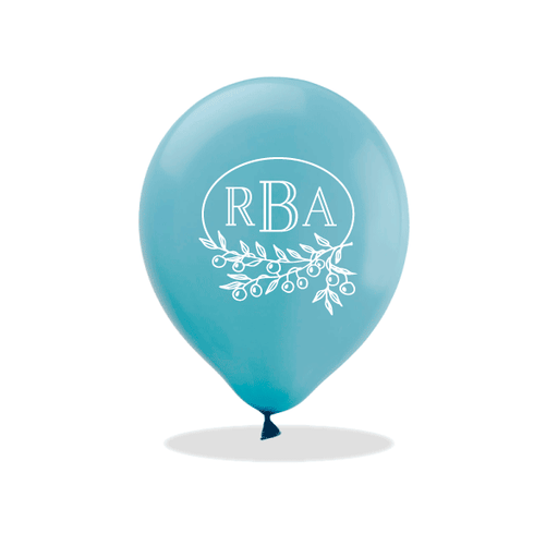 Berry Laurel Monogram Latex Balloons