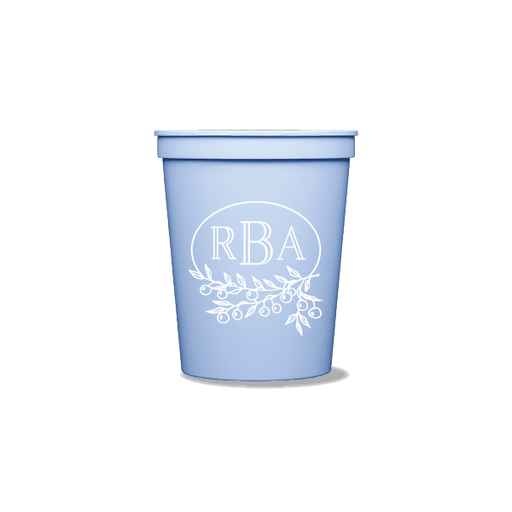 Berry Laurel Monogram Party Cups