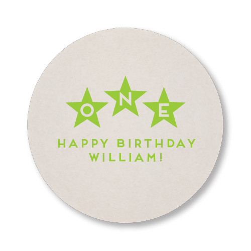 First Birthday Stars Coasters