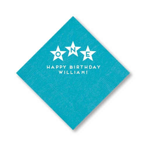 First Birthday Stars Cocktail Napkins
