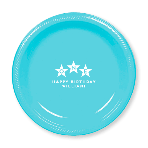 First Birthday Stars Plastic Plates