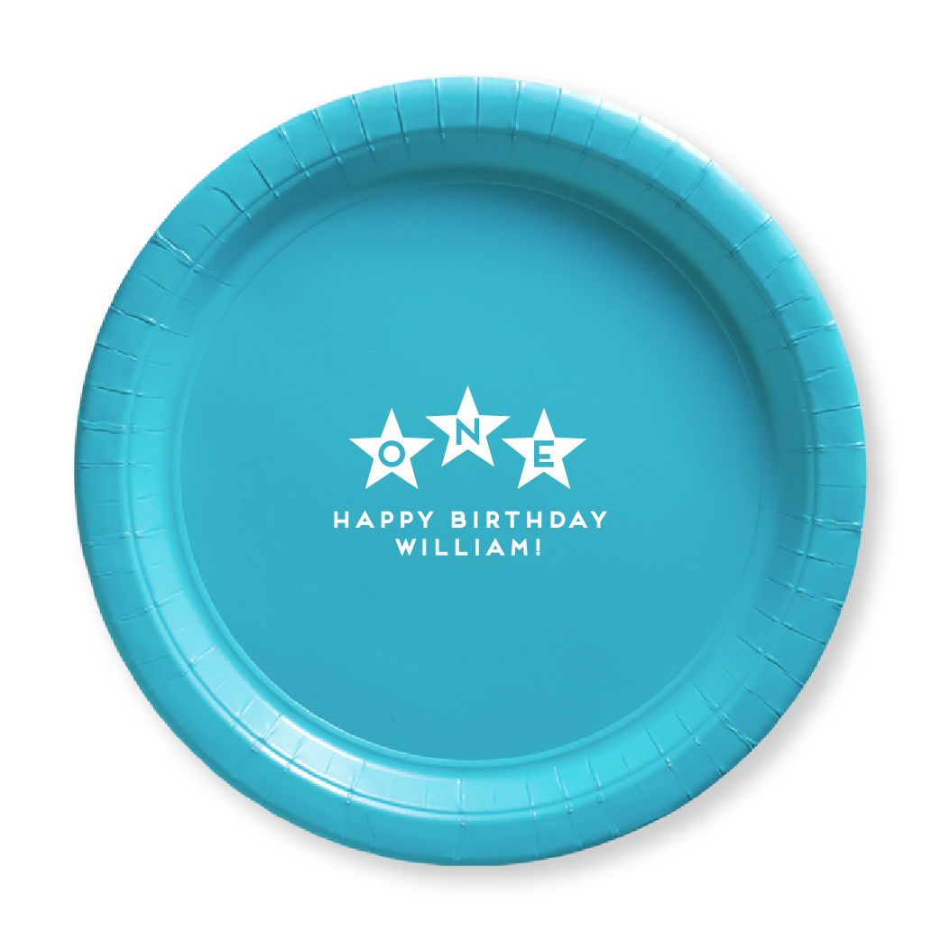 First Birthday Stars Paper Plates