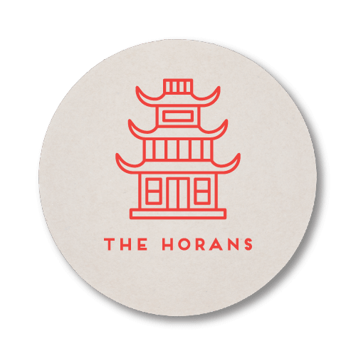 Chinese Temple Coasters