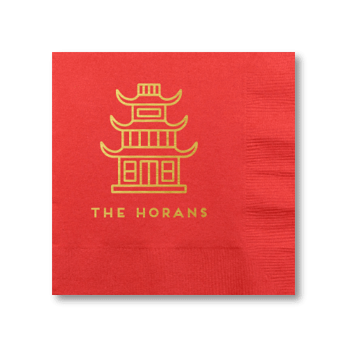 Chinese Temple Cocktail Napkins