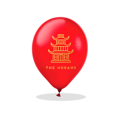 Chinese Temple Latex Balloons