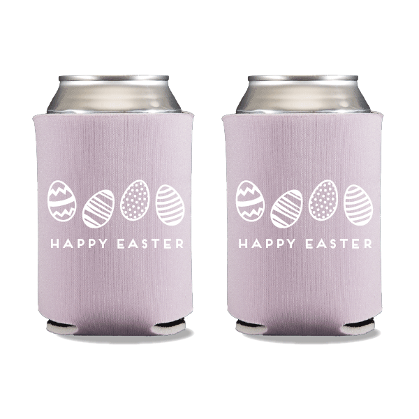 Happy Easter Eggs Can Coolers