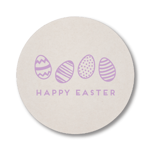 Happy Easter Eggs Coasters