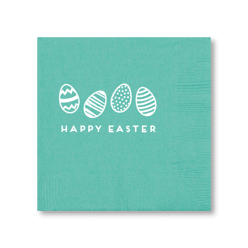 Happy Easter Eggs Cocktail Napkins
