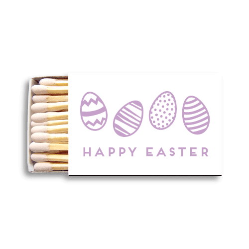 Happy Easter Eggs Matchboxes