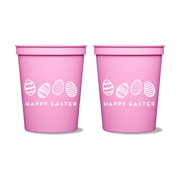 Happy Easter Eggs Party Cups
