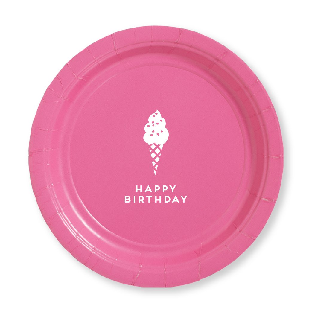 Birthday Ice Cream Paper Plates