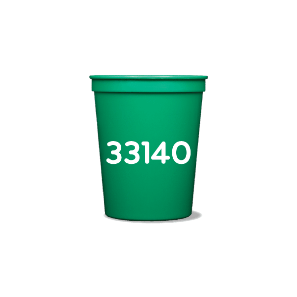 Zip Code Party Cups