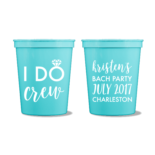 I Do Crew Party Cups