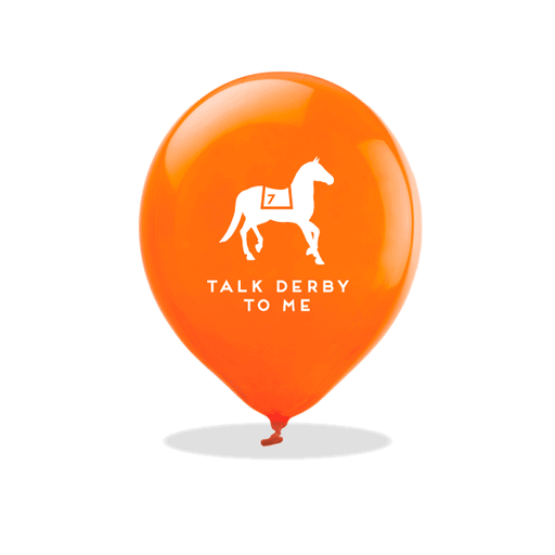 Talk Derby To Me Latex Balloons