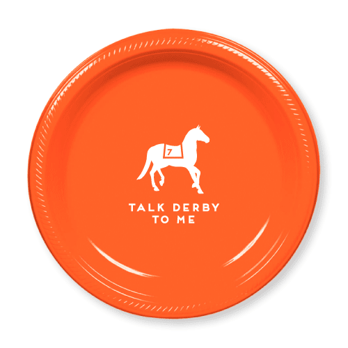 Talk Derby to Me Plastic Plates