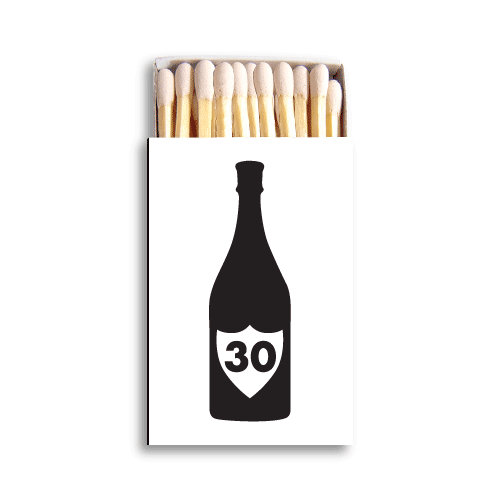 Champagne Birthday Matchboxes