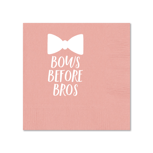 Bows Before Bros Cocktail Napkins