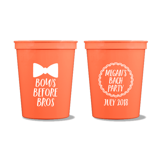 Bows Before Bros Party Cups