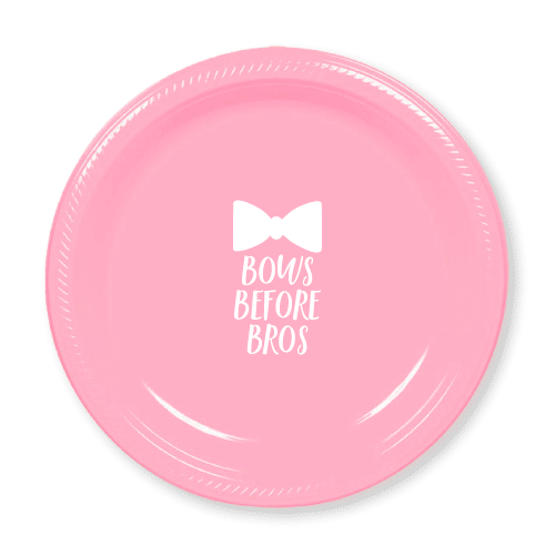 Bows Before Bros Plastic Plates
