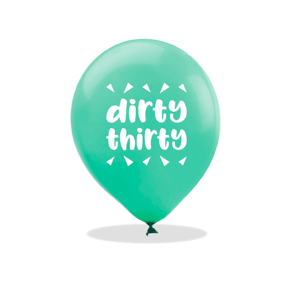 Dirty Thirty Latex Balloons
