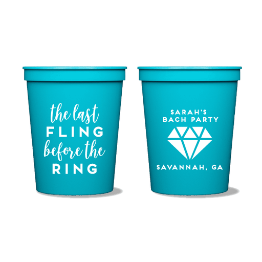 Last Fling Before The Ring Party Cups