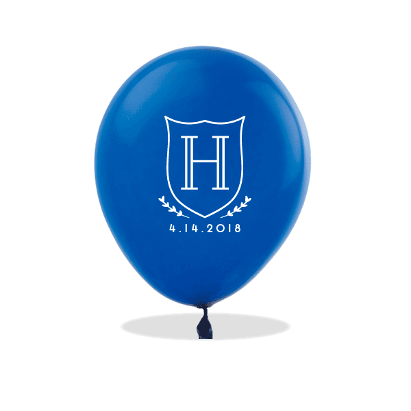 Monogrammed Crest Latex Balloons