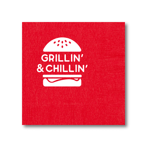 Grillin' & Chillin' Cocktail Napkins