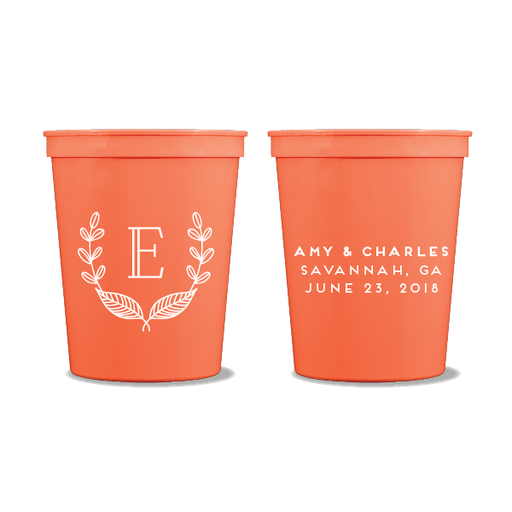 Rustic Laurel Party Cups