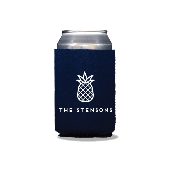 Personalized Pineapple Can Coolers